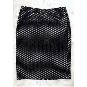 J. Crew Navy Polka Dot No. 2 Pencil Skirt